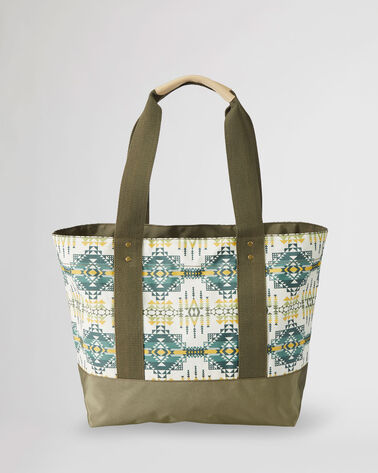ALTERNATE VIEW OF PILOT ROCK CANOPY CANVAS TOTE IN OLIVE