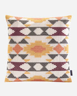 ARVADA CROSS STITCH PILLOW IN RED MULTI
