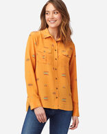 WOMEN'S LONG-SLEEVE SILK SHIRT