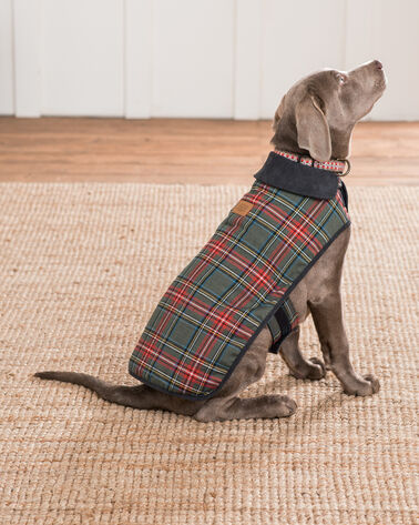 ADDITIONAL VIEW OF SMALL PLAID DOG COAT IN GREY STEWART