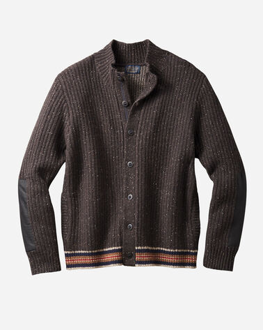 MEN'S SHELTER BAY CARDIGAN IN BROWN