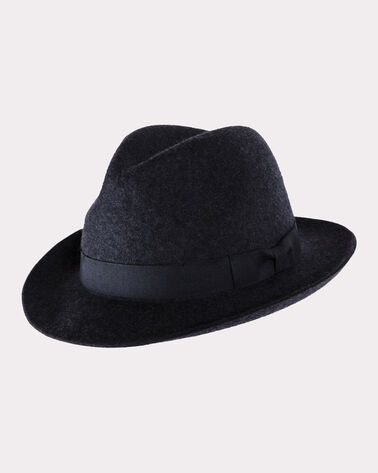 CLASSIC FEDORA, CHARCOAL MIX, large