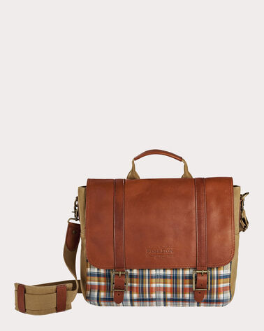 MODERN MESSENGER, HUDSON PLAID, large