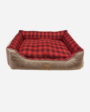 RED OMBRE KUDDLER DOG BED IN SIZE MEDIUM