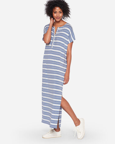 STRIPE HENLEY MAXI DRESS