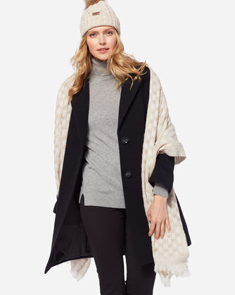 ADDITIONAL VIEW OF WOMEN'S TWO-BUTTON WALKER COAT IN BLACK