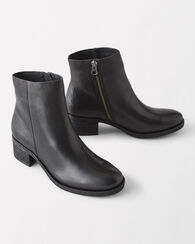 MAYTEN LEATHER BOOTIES, BLACK, large