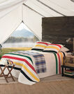 ADDITIONAL VIEW OF GLACIER NATIONAL PARK PIECED QUILT SET IN MULTI