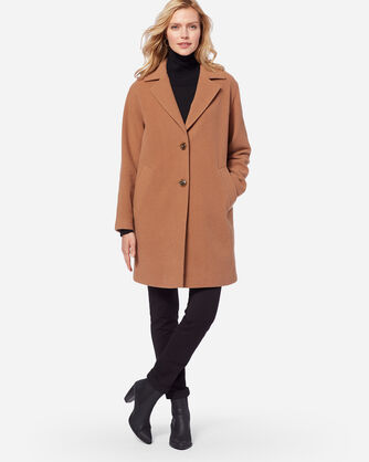 ADDITIONAL VIEW OF WOMEN'S TWO-BUTTON WALKER COAT IN CAMEL