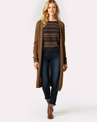 MARLED LONG CARDI, CHICORY COFFEE MULTI, large