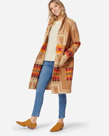WOMEN'S HARDING ARCHIVE BLANKET COAT IN TAN HARDING