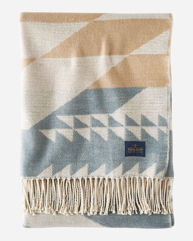 FOSSIL SPRINGS COTTON THROW, BLUSH MULTI, large