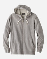 MEN'S OMBRE LOGO ZIP HOODIE IN GREY HEATHER