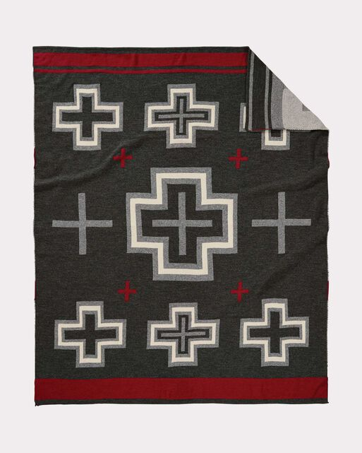 SAN MIGUEL KNIT THROW, CHARCOAL, large