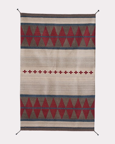 MONTPELIER RUG, NATURAL/RED, large