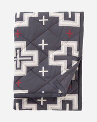 COTTON QUILTED THROW, SAN MIGUEL GREY, large