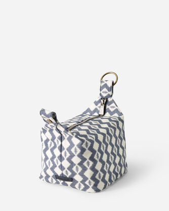 ALTERNATE VIEW OF ZIGZAG RIVER CANOPY CANVAS COSMETIC CASE IN WHITE