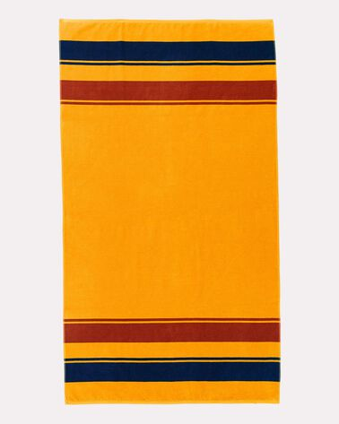 YELLOWSTONE NATIONAL PARK SPA TOWEL, MARIGOLD, large