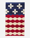 BRAVE STAR SPA TOWEL IN RED/WHITE/BLUE