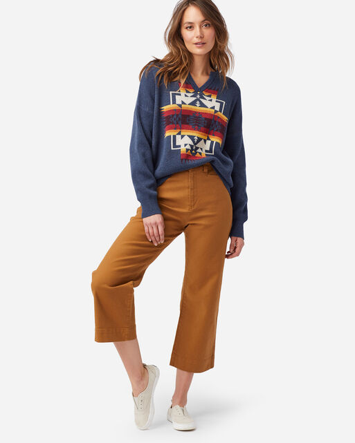 WOMEN'S COTTON SWEATER IN NAVY CHIEF JOSEPH
