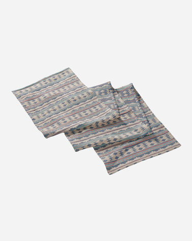 TWIN ROCKS WOVEN TABLE RUNNER IN SKY