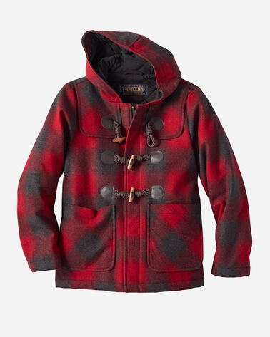 KIDS' VANCOUVER DUFFEL COAT IN RED BUFFALO