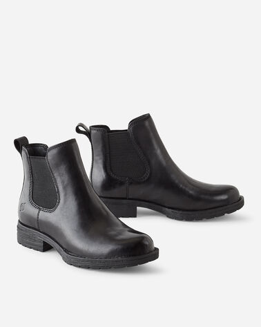 WOMEN'S BORN COVE PULL-ON BOOTIES IN BLACK