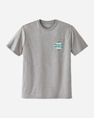 MEN'S EMBROIDERED POCKET TEE IN LIGHT GREY HEATHER