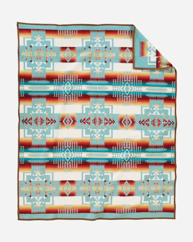 CHIEF JOSEPH BLANKET, AQUA, large