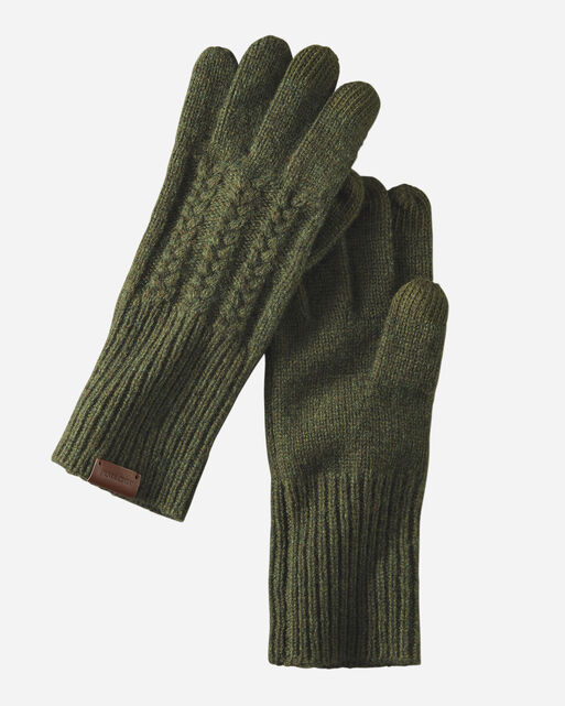 CABLE GLOVES IN EVERGREEN