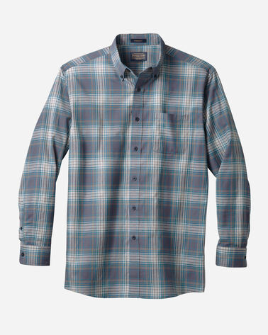 MEN'S SOMERSET BUTTON-DOWN SHIRT IN TEAL/NAVY/GREY PLAID