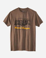 MEN'S GRAND CANYON PARK HERITAGE TEE IN BROWN HEATHER