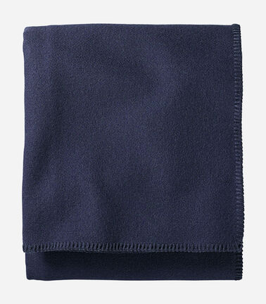 ECO-WISE WOOL SOLID BLANKET IN MIDNIGHT NAVY
