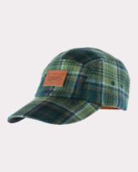 FIVE PANEL CAP, GREEN PLAID, large
