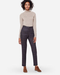 CORBY WOOL PANTS, BLUE PLAID, large