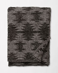 PAPAGO KNIT THROW, BLACK, large