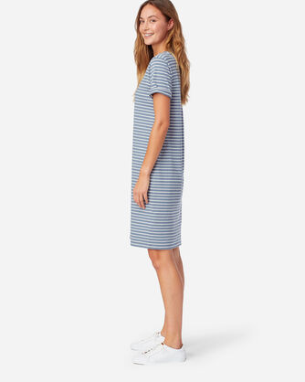 ALTERNATE VIEW OF DESCHUTES STRIPE TEE DRESS IN FADED BLUE/ANTIQUE WHITE