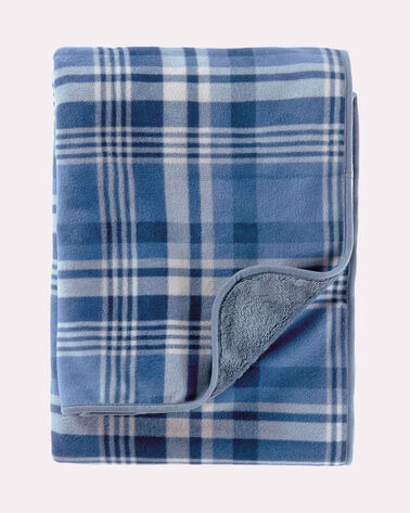 FLEECE THROW, TELLER PLAID, large