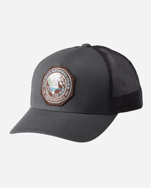 NATIONAL PARK TRUCKER HAT, CHARCOAL OLYMPIC, large