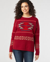 GRAPHIC CREWNECK PULLOVER, RED MULTI, large