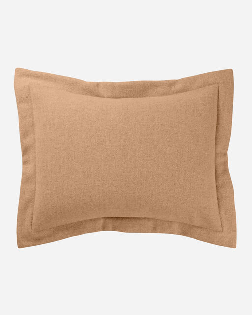 ECO-WISE WOOL EASY-CARE SHAM IN CAMEL