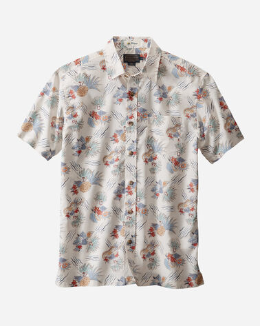 MEN'S COTTON SLUB ALOHA SHIRT, HULA GIRL, large