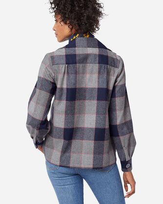 ADDITIONAL VIEW OF THE ORIGINAL '49ER JACKET IN NAVY/GREY PLAID