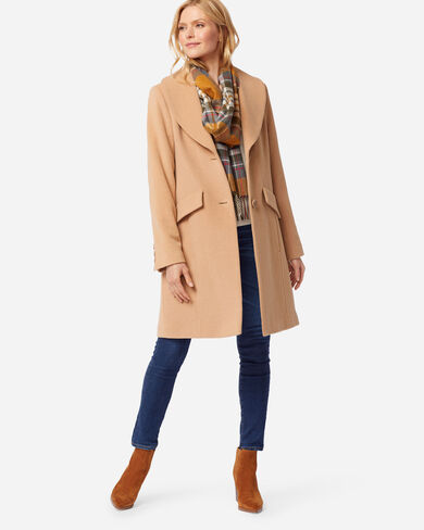 WOMEN'S WALKER COAT IN CREAM CAMEL