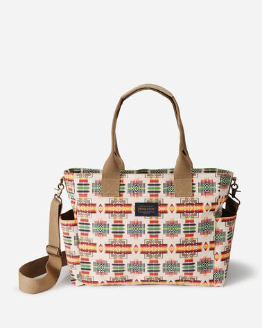 CHIEF JOSEPH CANOPY CANVAS SUPER TOTE, IVORY, large