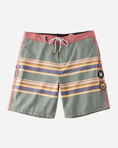 HURLEY X PENDLETON MEN'S BOARD SHORTS, GREEN BADLANDS, large