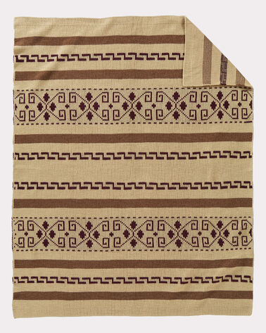 WESTERLEY KNIT THROW, TAN, large