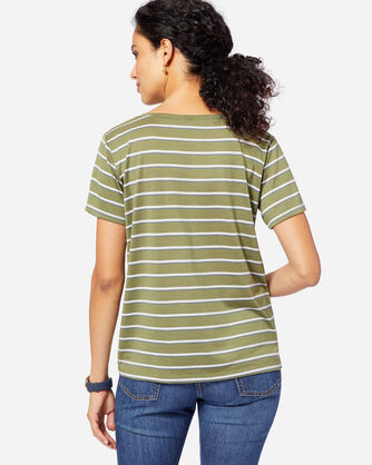 ADDITIONAL VIEW OF SHORT-SLEEVE MERINO STRIPE TEE IN OLIVE
