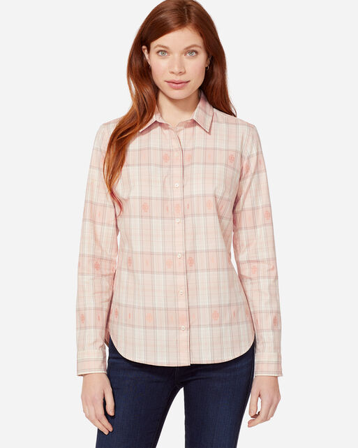 AUDREY FITTED SHIRT IN CAMEO ROSE