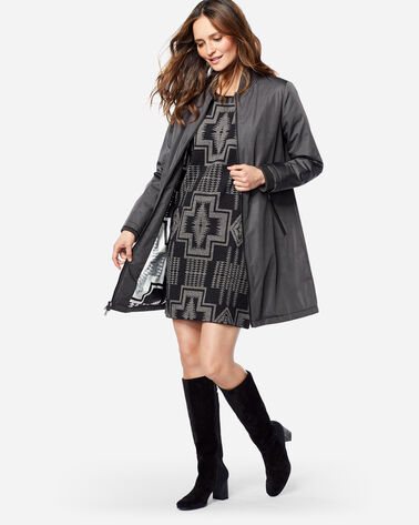 TECHRAIN BOMBER COAT, CHARCOAL, large